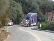 Truck up a dead end in the hills above Malibu