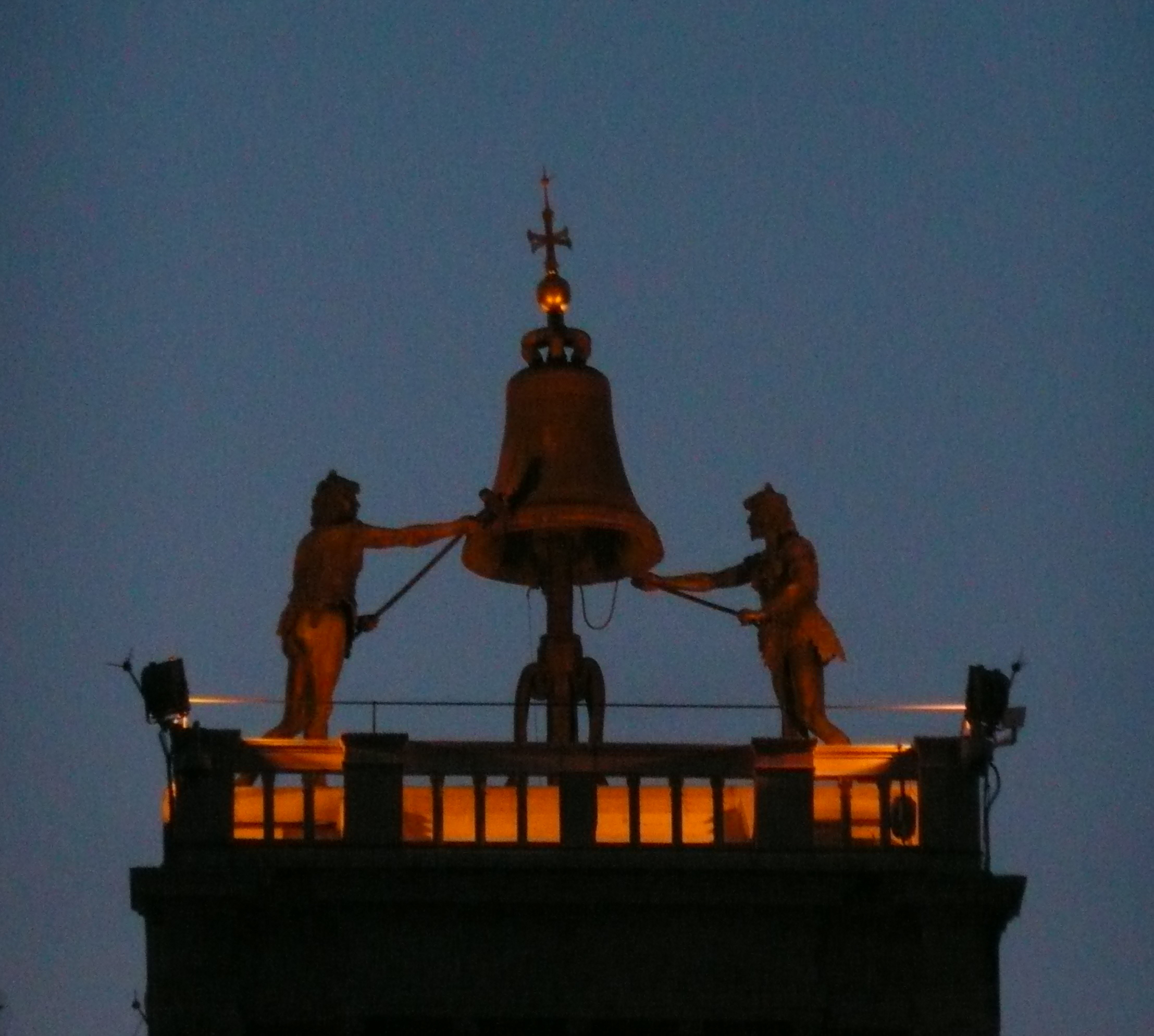 The Moors on the clock tower