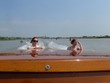 Jessica & Ariana in the water taxi