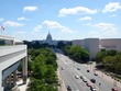 Capitol from the Newseum, Canadian embassy on left.