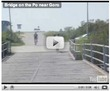 Crossing the boat bridge (video)