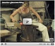 Jessica glassworking (video)