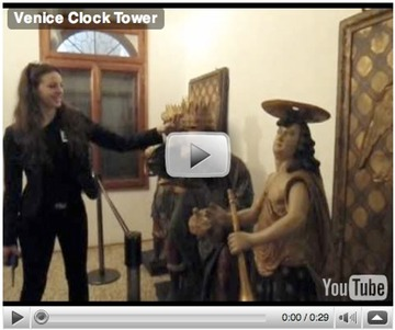 Venice clock tower (video)